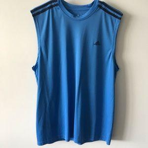 Adidas Climalite Blue Black Sleeveless Tank Top